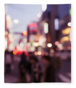 Abstract Out-of-focus City Scenery With Colorful Lights Fleece Blanket