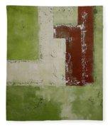 Abstract Painting Green 13013 Fleece Blanket