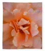 Abstract Peach Rose Fleece Blanket