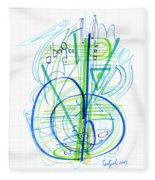 Abstract Pen Drawing Fifty-eight Fleece Blanket