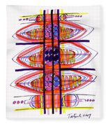 Abstract Pen Drawing Fifty Fleece Blanket