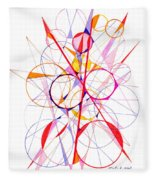 Abstract Pen Drawing Fifty-one Fleece Blanket