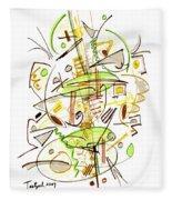 Abstract Pen Drawing Fifty-seven Fleece Blanket