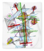Abstract Pen Drawing Forty-nine Fleece Blanket