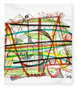Abstract Pen Drawing Forty-seven Fleece Blanket
