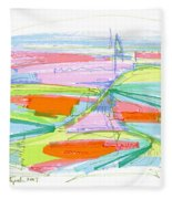Abstract Pen Drawing Forty-three Fleece Blanket