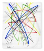 Abstract Pen Drawing Seventy-five Fleece Blanket