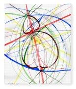 Abstract Pen Drawing Seventy-four Fleece Blanket