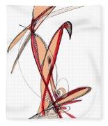 Abstract Pen Drawing Sixty-five Fleece Blanket