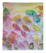 Abstract Petals Fleece Blanket