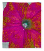 Abstract Petunia Fleece Blanket