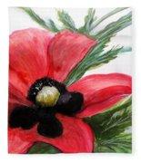 Abstract Poppy Fleece Blanket