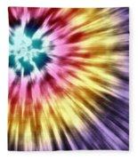 Abstract Purple Tie Dye Fleece Blanket