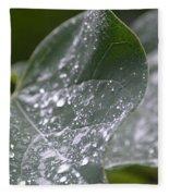 Abstract Rain Glitter Fleece Blanket