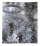 Abstract Raindrops Fleece Blanket