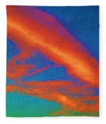 Abstract Red Blue And Green Sky Fleece Blanket
