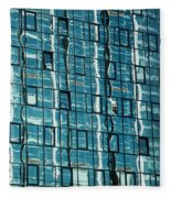 Abstract Reflections In Windows Fleece Blanket