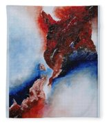 Abstract Rendezvous Fleece Blanket