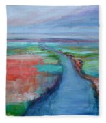 Abstract River Fleece Blanket