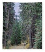 Abstract Road In The Wilderness Fleece Blanket