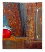 Abstract Rust Fleece Blanket