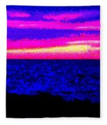 Abstract Seascape Fleece Blanket