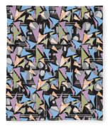 Abstract Shapes Collage Fleece Blanket