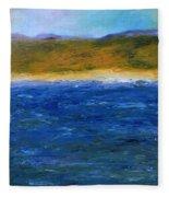 Abstract Shoreline Fleece Blanket