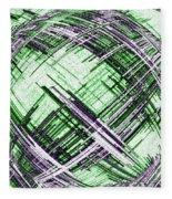 Abstract Spherical Design Fleece Blanket
