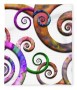 Abstract - Spirals - Planet X Fleece Blanket