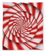 Abstract - Spirals - The Power Of Mint Fleece Blanket