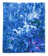 Abstract Splashing Water Fleece Blanket