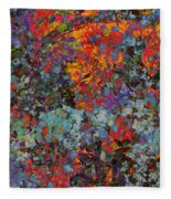 Abstract Spring Fleece Blanket