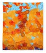 Abstract Summer Fleece Blanket