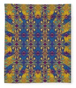Abstract Sun Rays And Rings Fleece Blanket