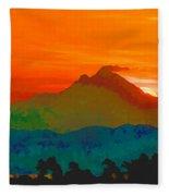 Abstract Sunrise Fleece Blanket
