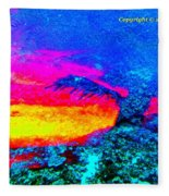 Abstract Sunset As A Painting Fleece Blanket