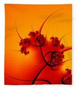 Abstract Sunset Fractal Fleece Blanket