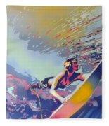Abstract Surf Fleece Blanket