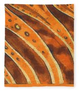 Abstract Tiger Stripes Fleece Blanket