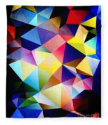 Abstract Triangles And Texture Fleece Blanket