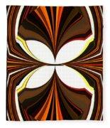 Abstract Triptych - Brown - Orange Fleece Blanket