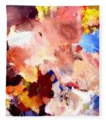 Abstract Two Fleece Blanket