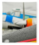 Abstract View Of Airshow During A Rain Storm Fleece Blanket