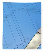 Abstract Wall Fleece Blanket