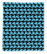 Abstract Waves On A Black Background Fleece Blanket