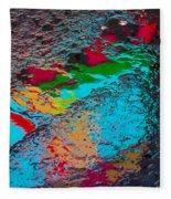 Abstract Wet Pavement Fleece Blanket