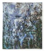 Abstract Winter Landscape Fleece Blanket