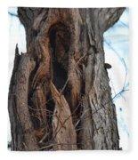 Abstract Winter Tree Fleece Blanket