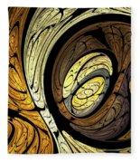 Abstract Wood Grain Fleece Blanket